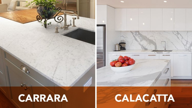 How to Tell the  Difference between Calacatta Marble and Carrara Marble!
